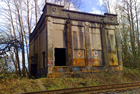 The abandoned Pirtle Transfer Station on the Oregon Electric line, just south of Albany.