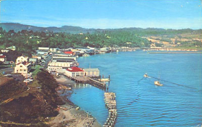 The Newport bayfront as it appeared in the 1960s.
