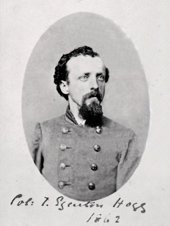 "T. Edgenton Hogg (commonly misspelled ""Edgerton""), during his days as a confederate privateer."