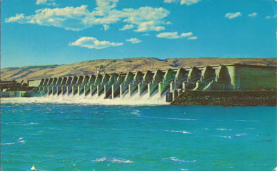 The Dalles Dam, which flooded Celilo Falls in the 1950s.