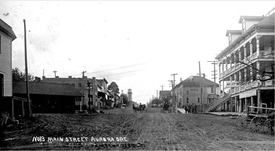 Aurora Colony, main street, circa 1910.