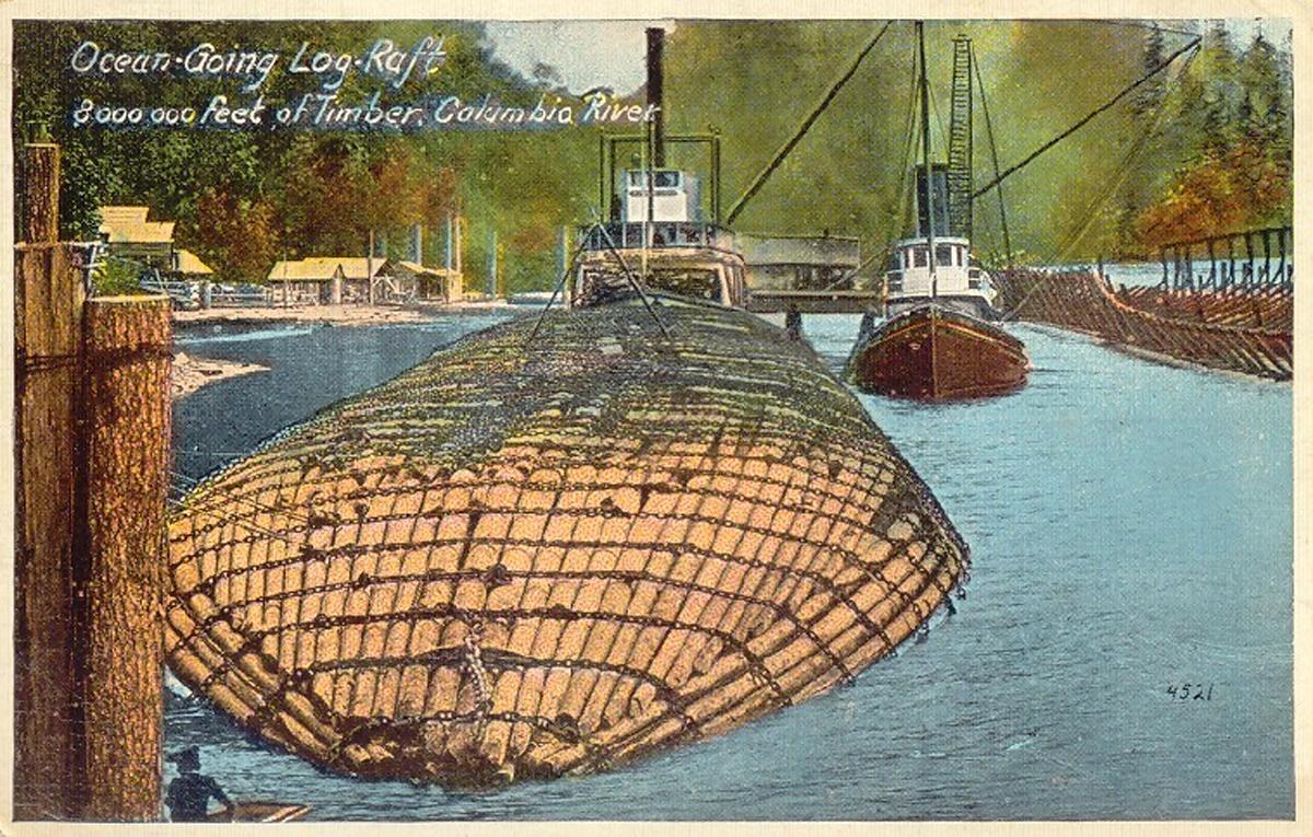 First Seaworthy Log Raft Helped Oregon Build City Of San
