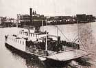 Portland's Stark Street Ferry, shown here during its salad days when it was the only way to get across the Willamette River in Portland. By the time part-owner James Lotan blackmailed the city into buying it, it had been made irrelevant by bridge construction, and unseaworthy by lack of maintenance.
