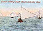 Fishing boats come in off the bar after the turn of the tide. This postcard image dates from the late 1800s, when salmon fishing on the bar was done with heavy 24-foot double-enders. If they drifted too far out onto the bar, there was often nothing that could be done for them.