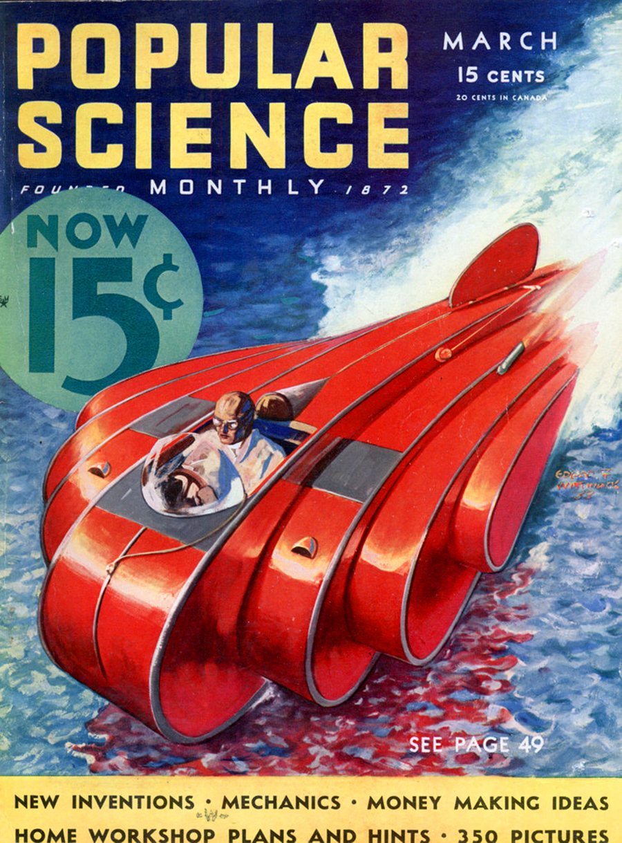 Popular Science Leisure Homes Book 70s Design: Buck Rogers-style Police Boat Didn't Work Out For Portland