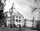 The main entry of the Oregon State Hospital as it appeared in the late 1940s, shortly after this incident.