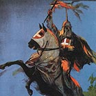A detail from the movie poster for the 1915 racist move 'Birth of a Nation,' which inspired and propelled the resurgence of the Ku Klux Klan in the years just after the Great War.